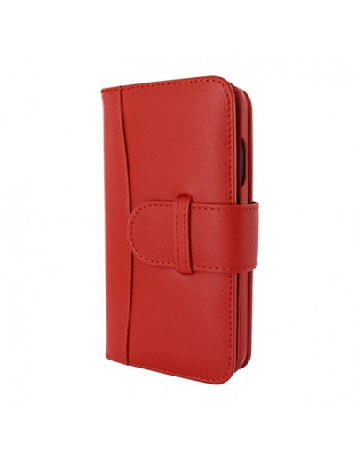 Piel Frama iPhone 13 Pro Max WalletMagnum Leather Case - Red