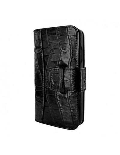 Piel Frama iPhone 13 Pro WalletMagnum Leather Case - Black Crocodile