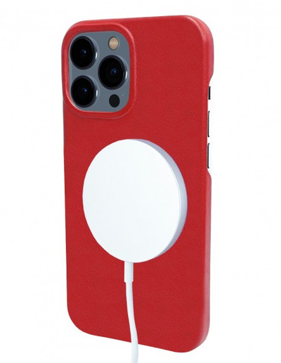 Piel Frama iPhone 13 Pro FramaSlimGrip Leather Case - Red