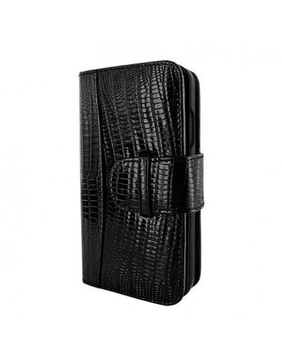 Piel Frama iPhone 13 WalletMagnum Leather Case - Black Lizard