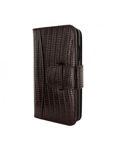 Piel Frama iPhone 13 WalletMagnum Leather Case - Brown Lizard
