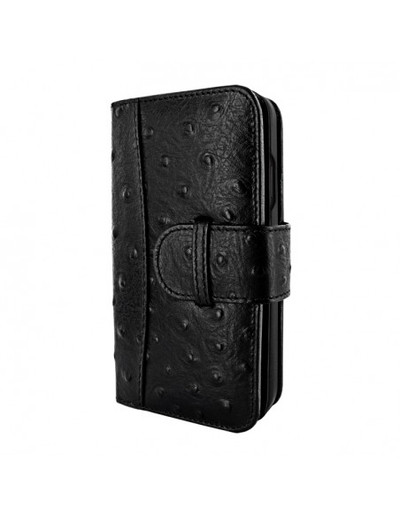 Piel Frama iPhone 13 WalletMagnum Leather Case - Black Ostrich