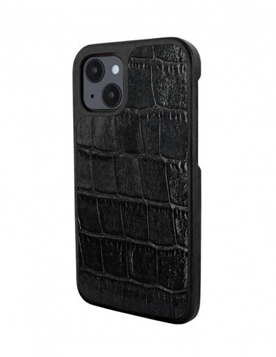Piel Frama iPhone 13 Luxinlay Leather Case - Black Crocodile