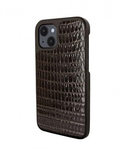 Piel Frama iPhone 13 Luxinlay Leather Case - Brown Lizard