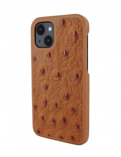 Piel Frama iPhone 13 Luxinlay Leather Case - Tan Ostrich