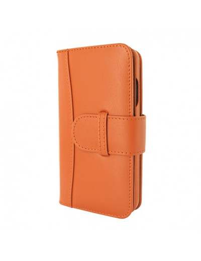 Piel Frama iPhone 13 mini WalletMagnum Leather Case - Orange