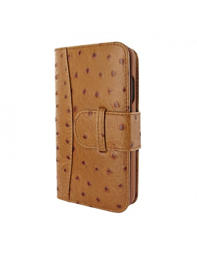 Piel Frama iPhone 13 mini WalletMagnum Leather Case - Tan Ostrich