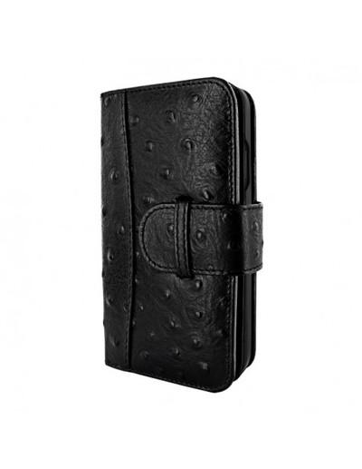 Piel Frama iPhone 13 mini WalletMagnum Leather Case - Black Ostrich