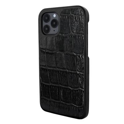 Piel Frama iPhone 12   12 Pro LuxInlay Leather Case - Black Crocodile