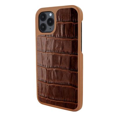 Piel Frama iPhone 12 | 12 Pro LuxInlay Leather Case - Brown Crocodile