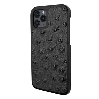 Piel Frama iPhone 12   12 Pro LuxInlay Leather Case - Ostrich Black