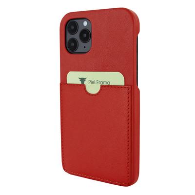 Piel Frama iPhone 12   12 Pro FramaSlimGrip Leather Case - Red