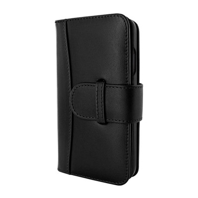 Piel Frama iPhone 12 | 12 Pro WalletMagnum Leather Case - Black