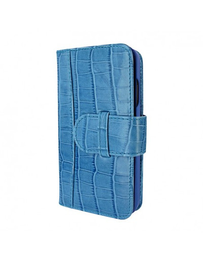 Piel Frama iPhone 12 | 12 Pro WalletMagnum Leather Case - Crocodile Blue