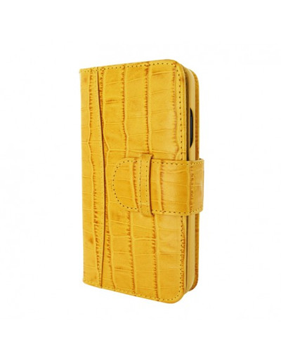 Piel Frama iPhone 12 | 12 Pro WalletMagnum Leather Case - Crocodile Yellow