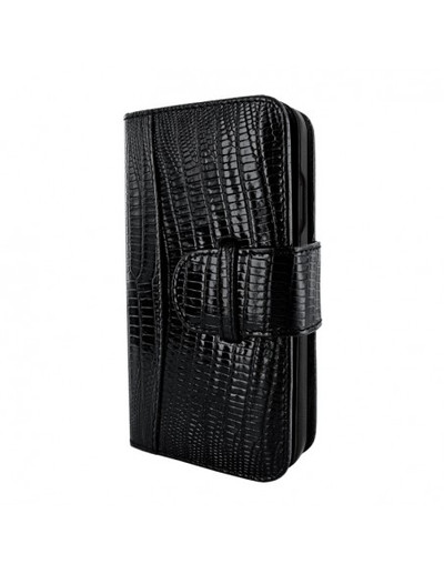 Piel Frama iPhone 12 | 12 Pro WalletMagnum Leather Case - Lizard Black