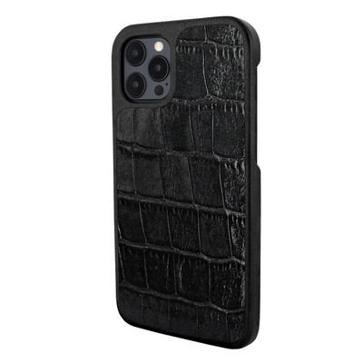 Piel Frama iPhone 12 Pro Max FramaSlimGrip Leather Case - Black Crocodile
