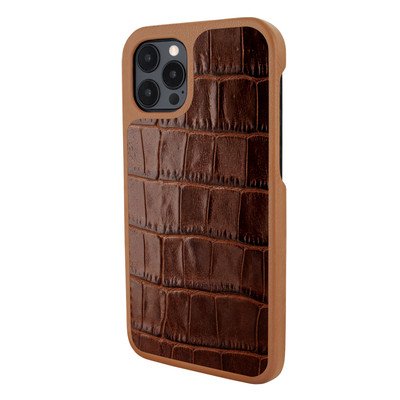 Piel Frama iPhone 12 Pro Max FramaSlimGrip Leather Case - Brown Crocodile