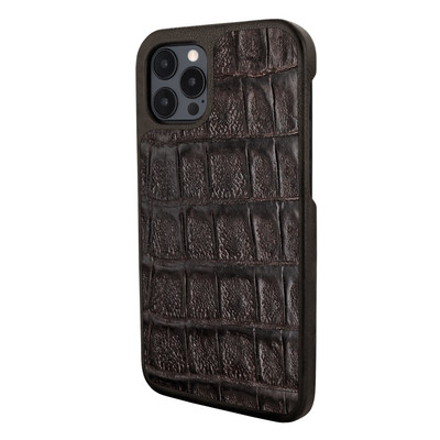Piel Frama iPhone 12 Pro Max FramaSlimGrip Leather Case - Wild Croco Brown