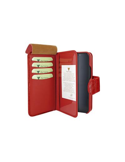 Piel Frama iPhone 12 Pro Max WalletMagnum Leather Case - Crocodile Red