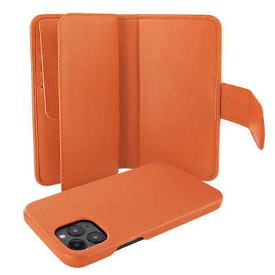 Piel Frama iPhone 12 Pro Max WalletMagnum Leather Case - Orange