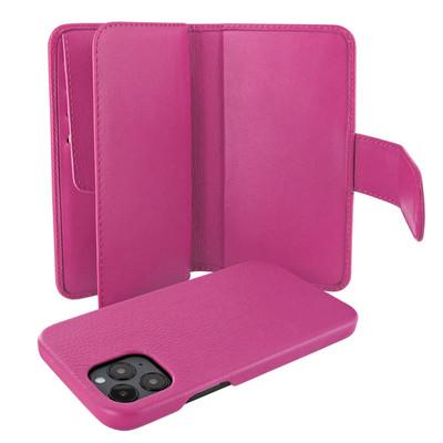 Piel Frama iPhone 12 Pro Max WalletMagnum Leather Case - Pink