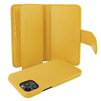 Piel Frama iPhone 12 Pro Max WalletMagnum Leather Case - Yellow
