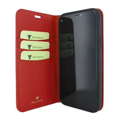 Piel Frama iPhone 12 Pro Max FramaSlimCards Leather Case - Red