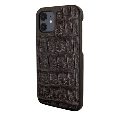 Piel Frama iPhone 12 mini LuxInlay Leather Case - Wild Croco Brown