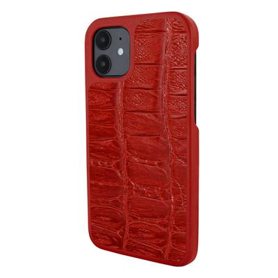 Piel Frama iPhone 12 mini LuxInlay Leather Case - Wild Croco Red