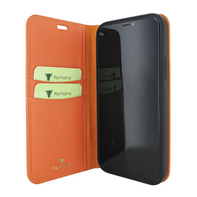 Piel Frama iPhone 12 mini FramaSlimCards Leather Case - Orange