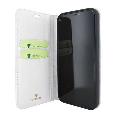 Piel Frama iPhone 12 mini FramaSlimCards Leather Case - White