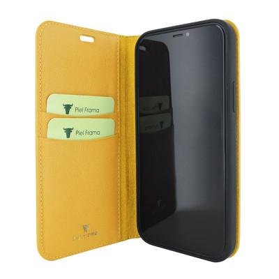 Piel Frama iPhone 12 mini FramaSlimCards Leather Case - Yellow