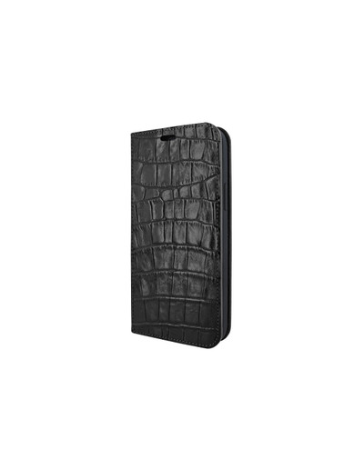 Piel Frama iPhone 12 Pro Max FramaSlimCards Leather Case - Black Crocodile
