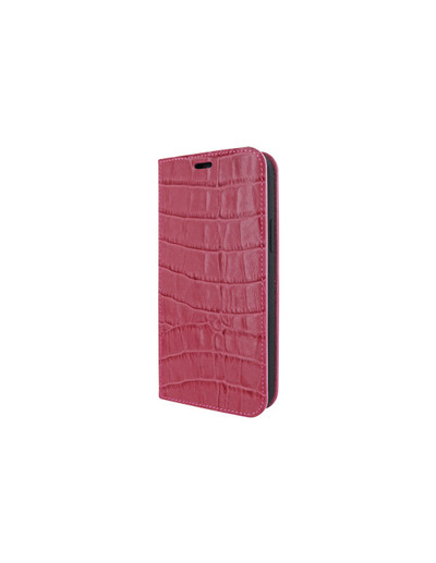 Piel Frama iPhone 12 Pro Max FramaSlimCards Leather Case - Fuchsia Crocodile
