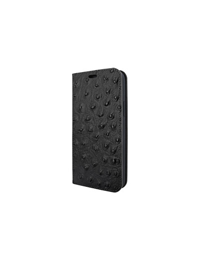 Piel Frama iPhone 12 Pro Max FramaSlimCards Leather Case - Black Ostrich