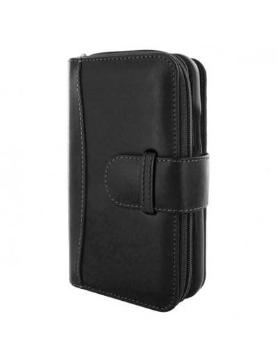 Piel Frama iPhone 12   12 Pro ZipperWallet Leather Case - Black