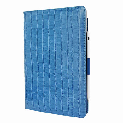 Piel Frama iPad Air 2019 | iPad 10.2 2019 Cinema Leather Case - Blue Crocodile