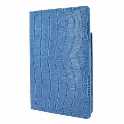 Piel Frama iPad Mini 4 Cinema Leather Case - Blue Cowskin-Crocodile