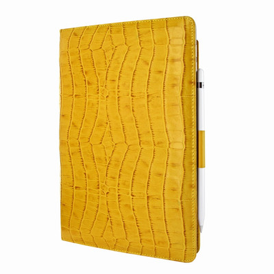 Piel Frama iPad Pro 10.5 Cinema Leather Case - Yellow Cowskin-Crocodile