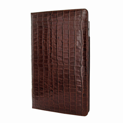 Piel Frama iPad Pro 12.9 2017 Cinema Leather Case - Brown Cowskin-Crocodile