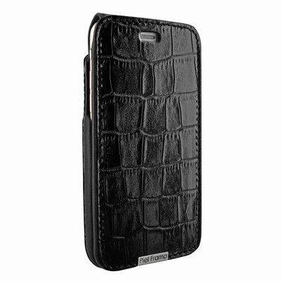 Piel Frama iPhone 6 / 6S / 7 / 8 UltraSliMagnum Leather Case - Black Cowskin-Crocodile