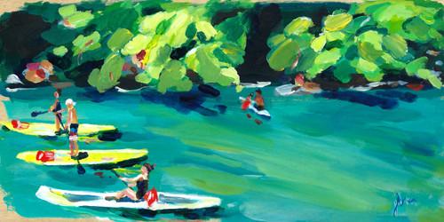 "Original work ""Rush Hour"" by Jamie Billman McCormick. 6x12"", acrylic on birch panel."