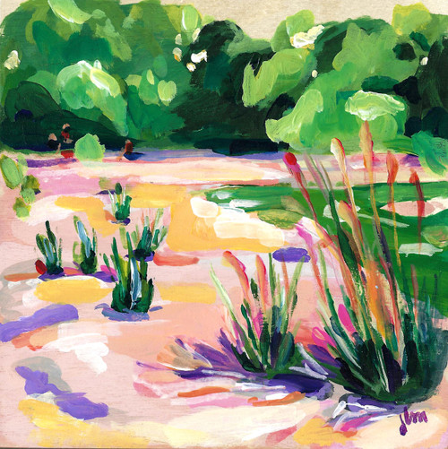 "Original work ""Summer Shadows"" by Jamie Billman McCormick. 6x6"" on birch panel."