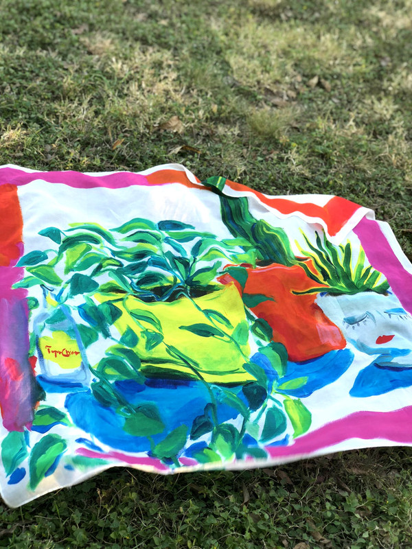 Plants and Topo Scarf