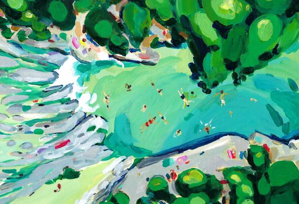 """Print of original work """"Sculpture Falls (Aerial View)"""""""