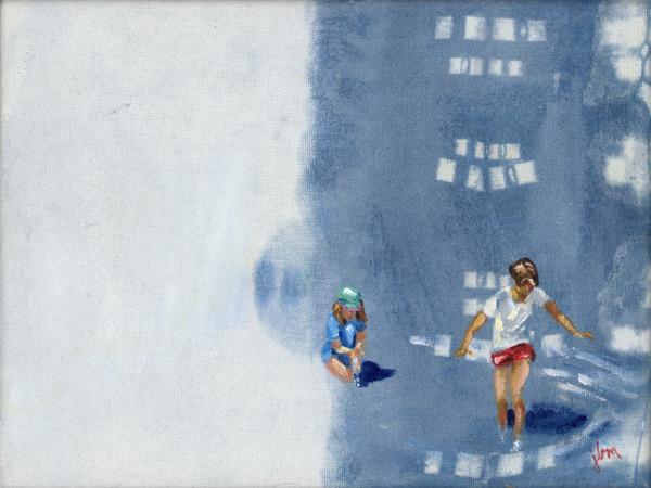 "Image of original artwork ""Tadpoles"" from the Shibori Collection"