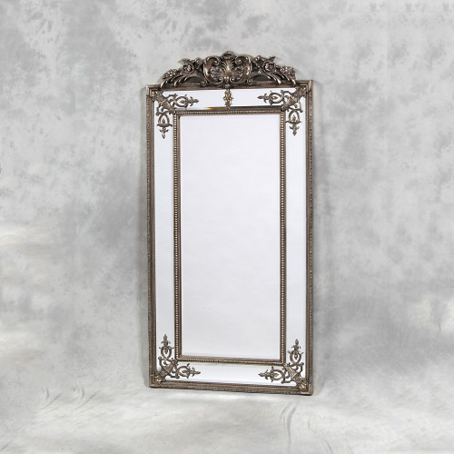 THE TALL SILVER PARISIAN MIRROR
