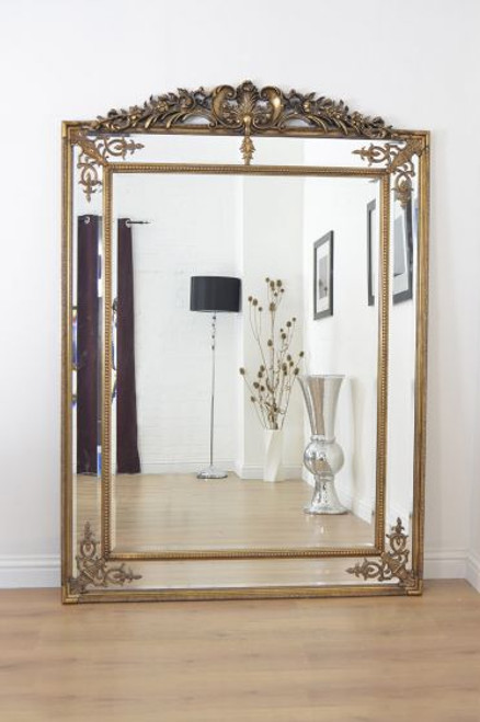 THE LARGE GOLD PARISIAN MIRROR