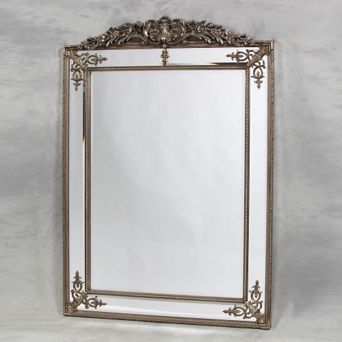 THE LARGE SILVER PARISIAN MIRROR